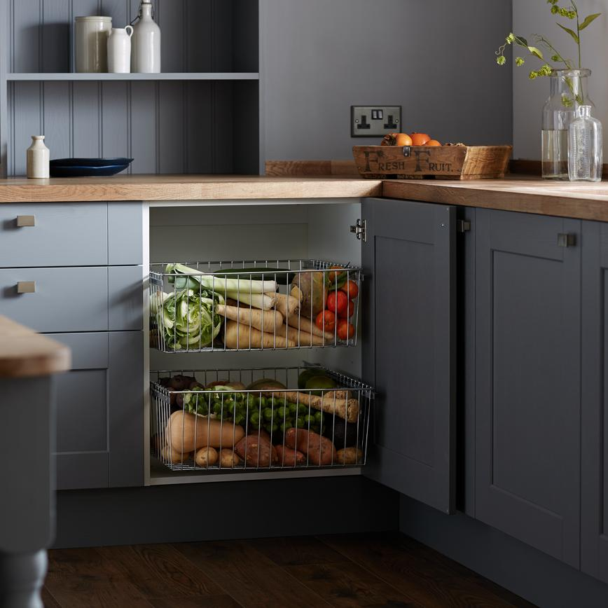 Fairford Slate Grey Veg Drawers 2 RT
