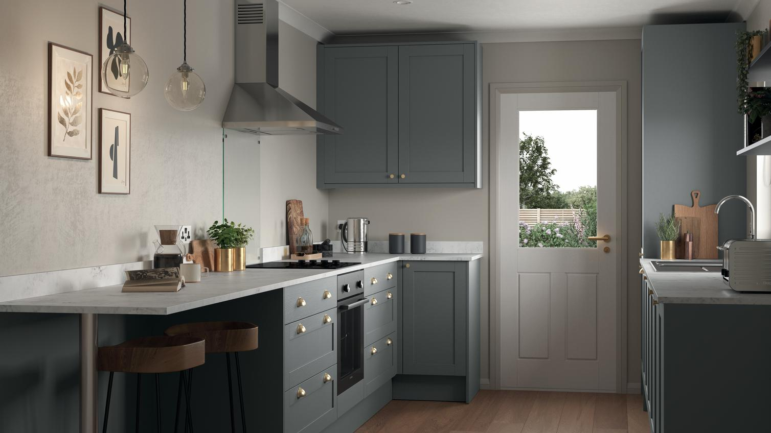 Allendale Slate Grey Kitchen Fitted Kitchens Howdens