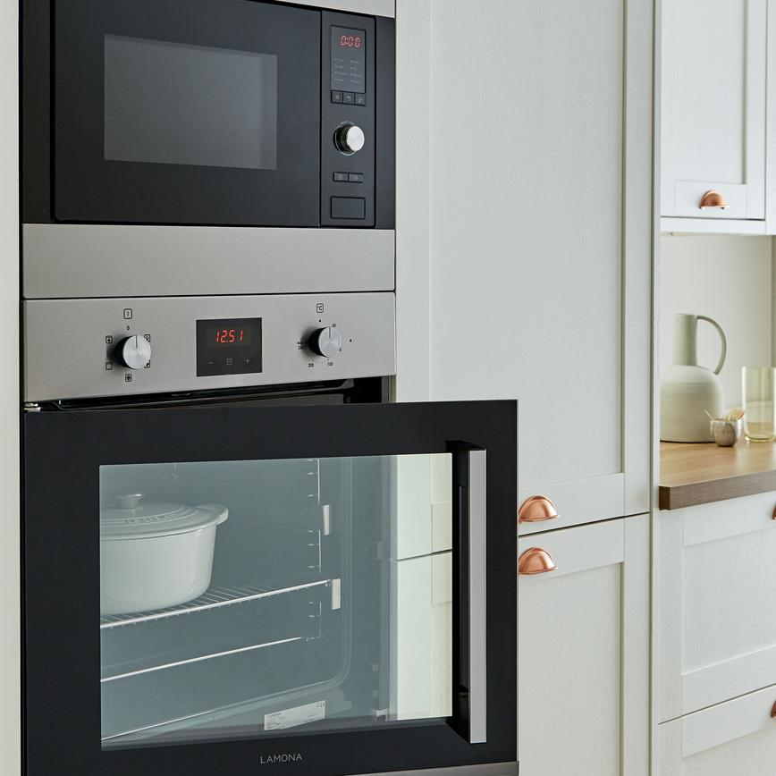 Open Oven In Kitchen: Lamona Left-Hand Side Opening Single Fan Oven