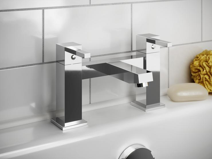Chrome Square Bath Tap
