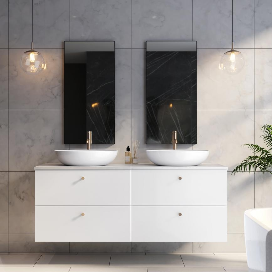 Gloss White Wall Mounted 800 Vanity Units
