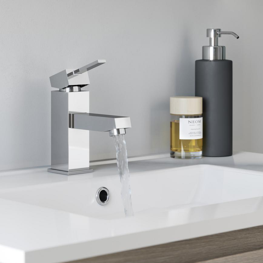 Chrome Square Bathroom Tap