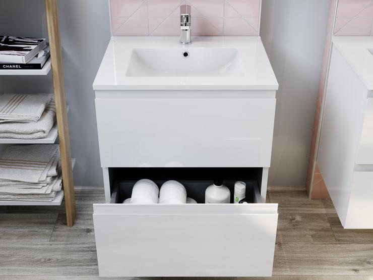 Caprera Gloss White 600 Vanity Unit