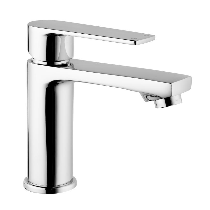BTP0600 Contemporary Chrome Mono Mixer Basin Tap with Clicker Waste
