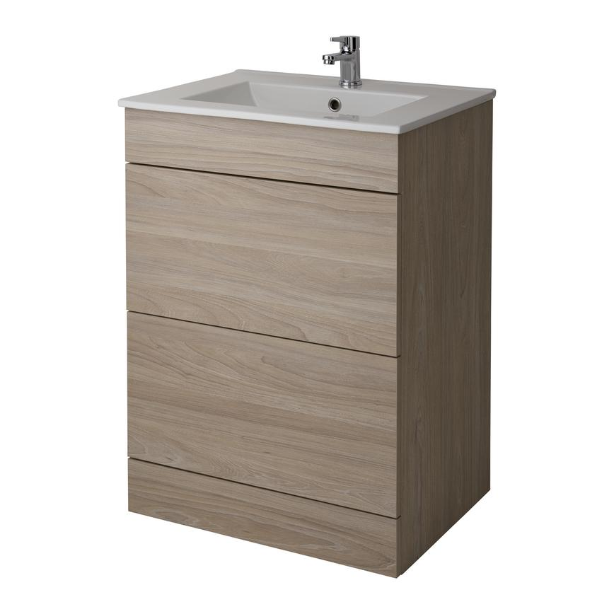 Alderney Floor Standing Vanity Unit 600mm and 800mm - Drift Oak