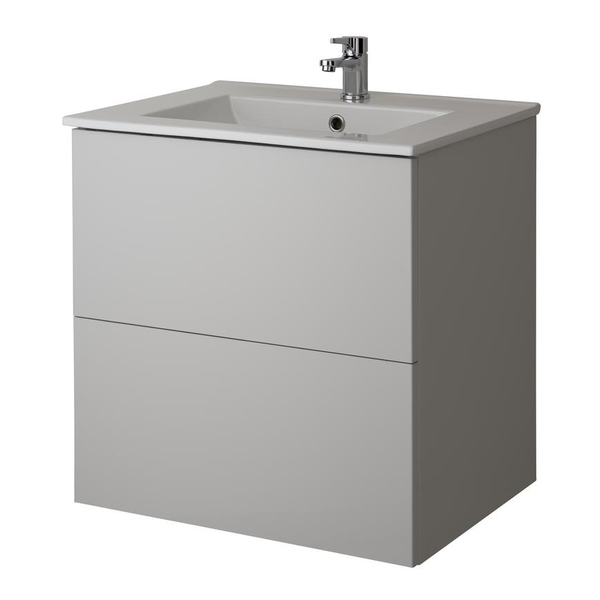 Alderney Wall Mounted Vanity Unit 600mm and 800mm - Gloss Dove Grey