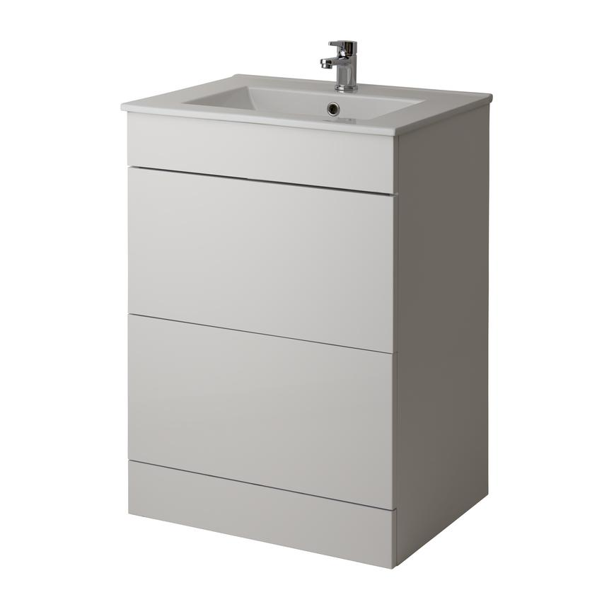 Alderney Floor Standing Vanity Unit 600mm and 800mm - Gloss White