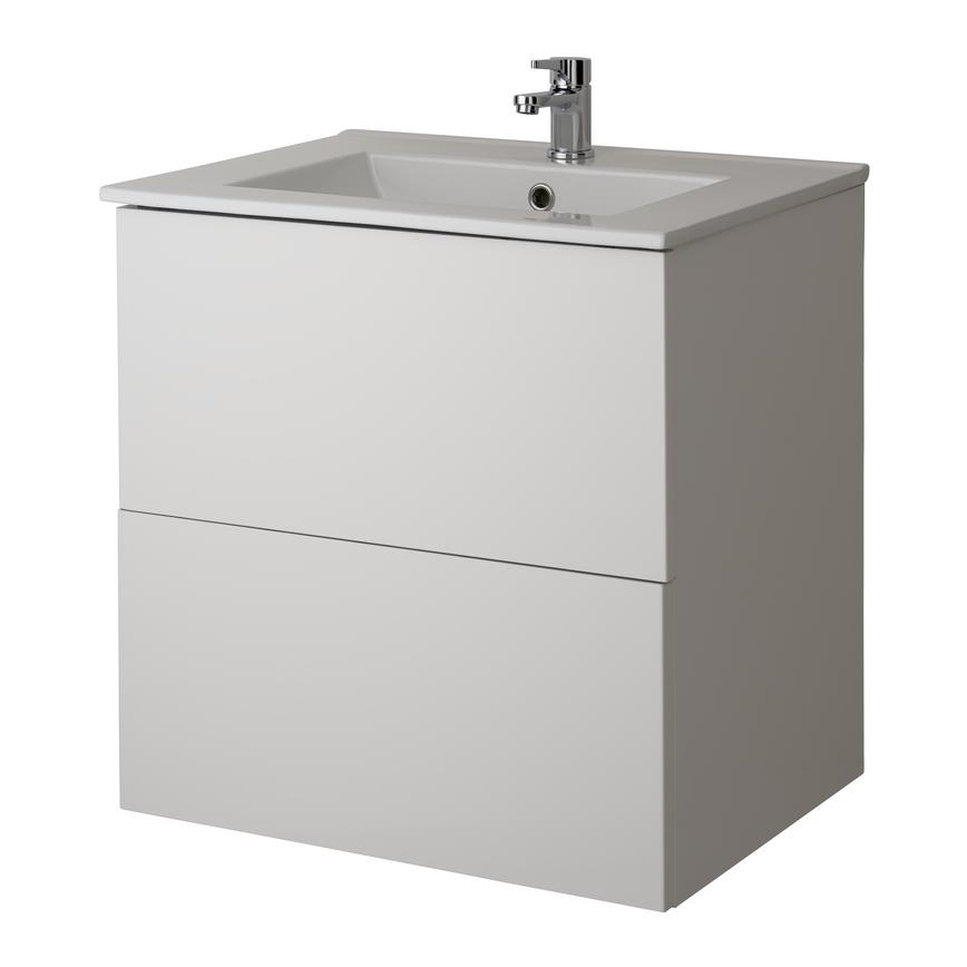 Alderney Wall Mounted Vanity Unit 600mm and 800mm - Gloss White