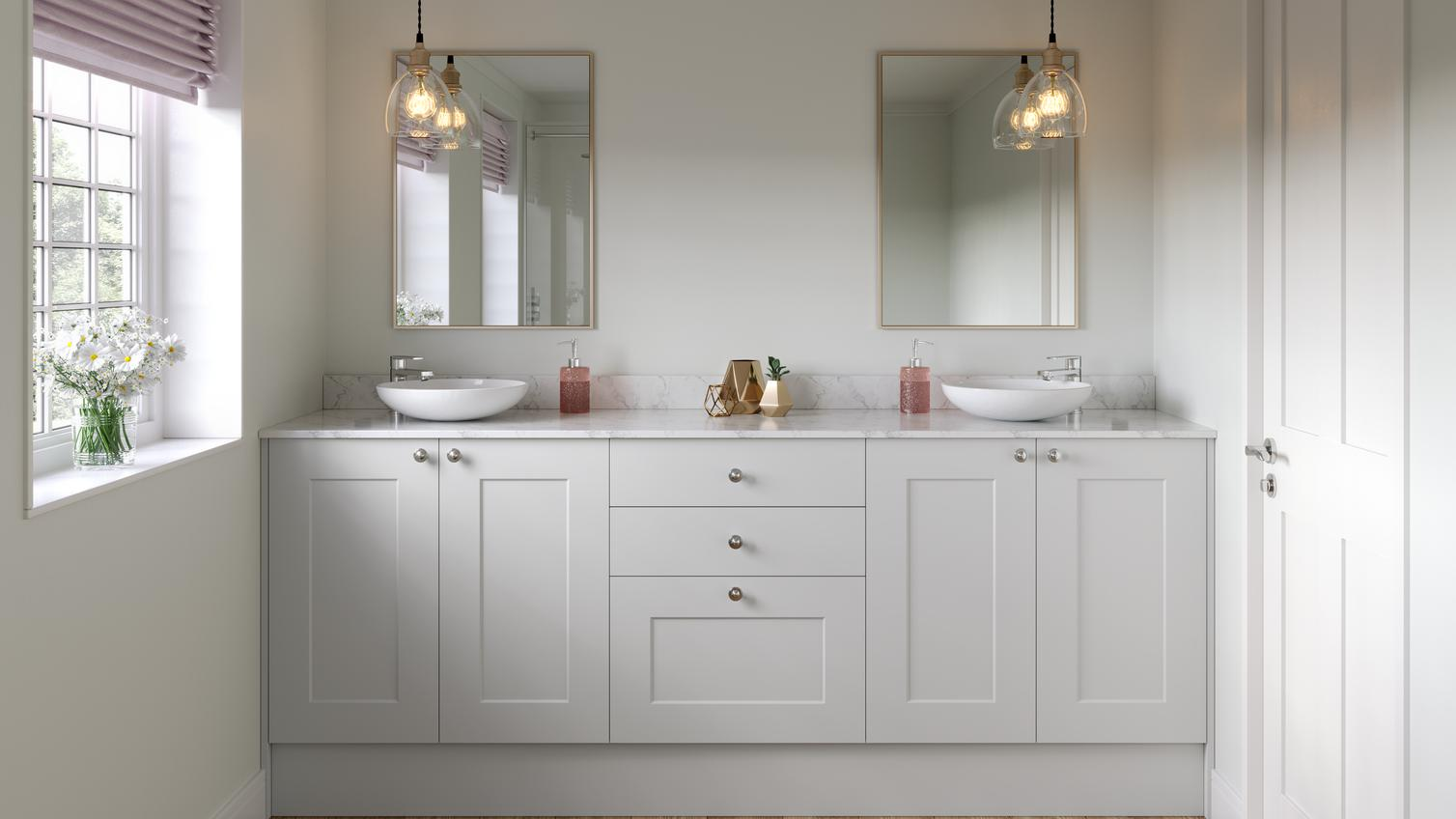 Chelford Dove Grey Bathroom Fitted Bathrooms Howdens