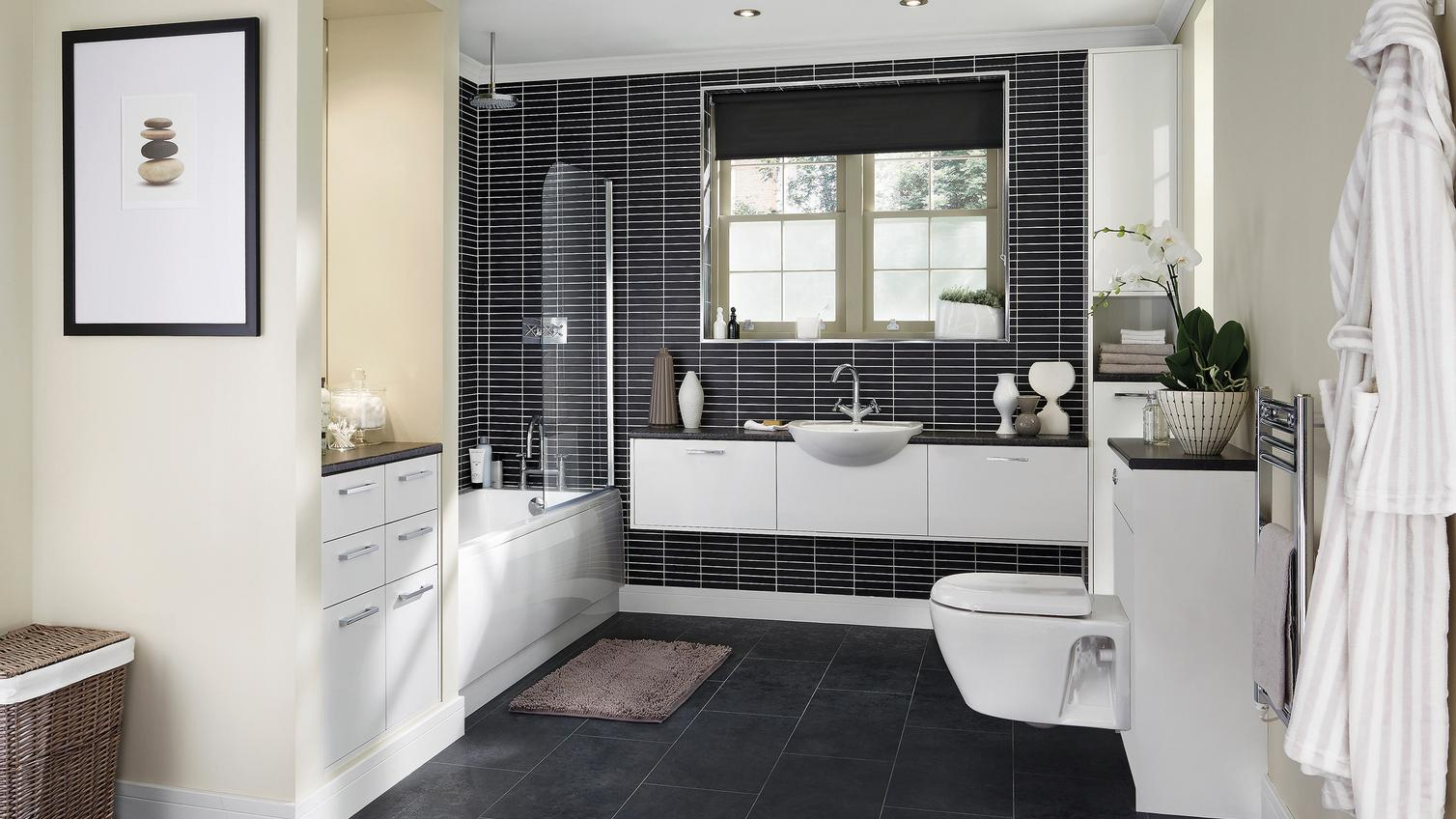 Greenwich White Smooth Bathroom Fitted Bathrooms Howdens