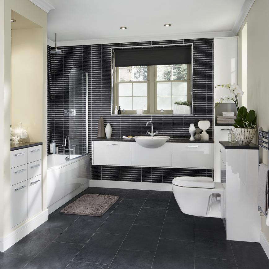 Greenwich Gloss White Bathroom
