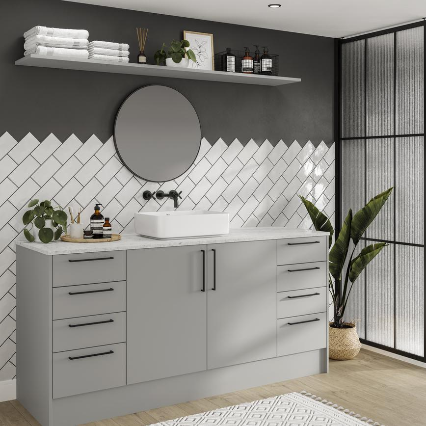 Hockley Super Matt Dove Grey Bathroom
