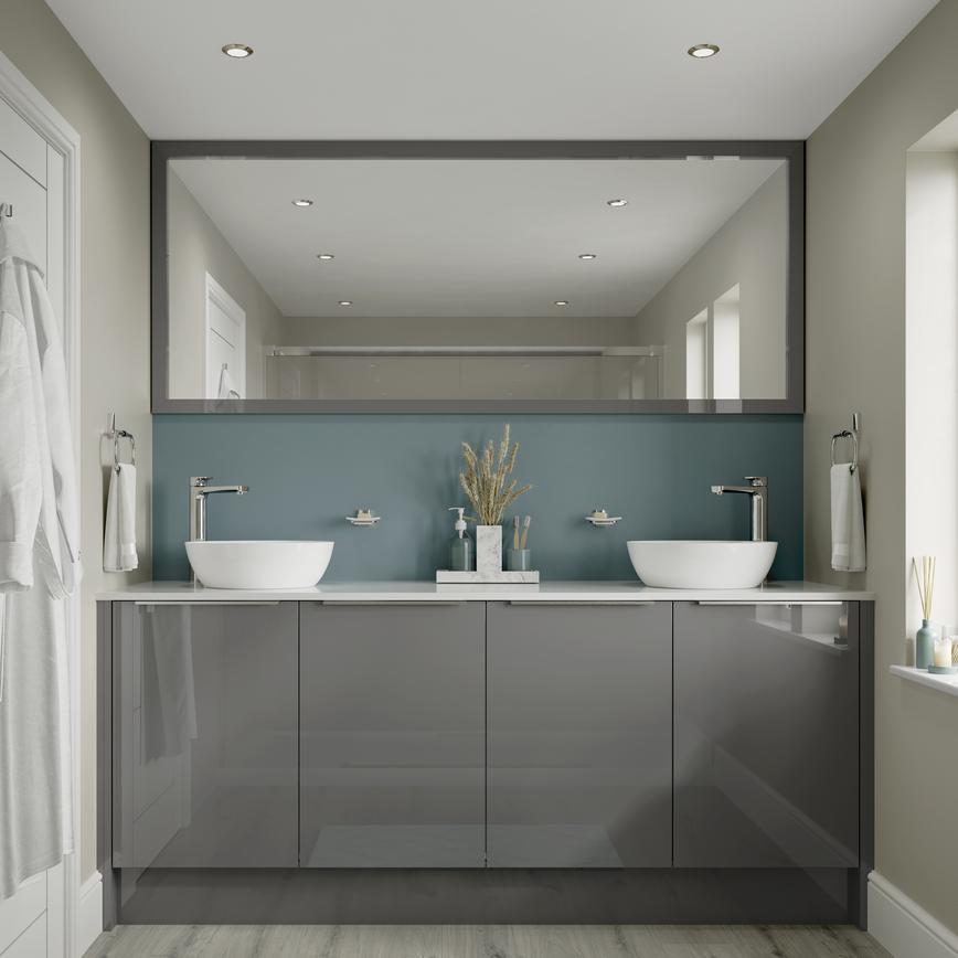 Hockley Mirror Gloss Slate Grey Bathroom