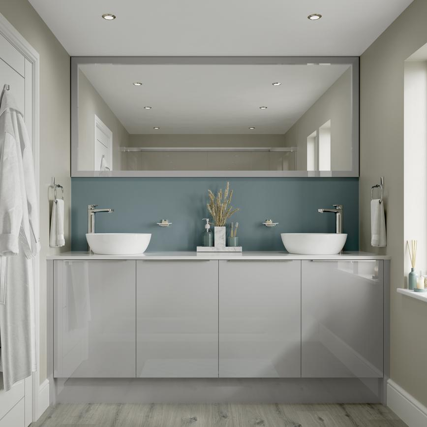 Hockley Mirror Gloss Dove Grey Bathroom