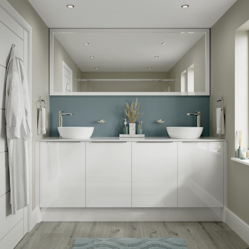 Hockley Mirror Gloss White Bathroom