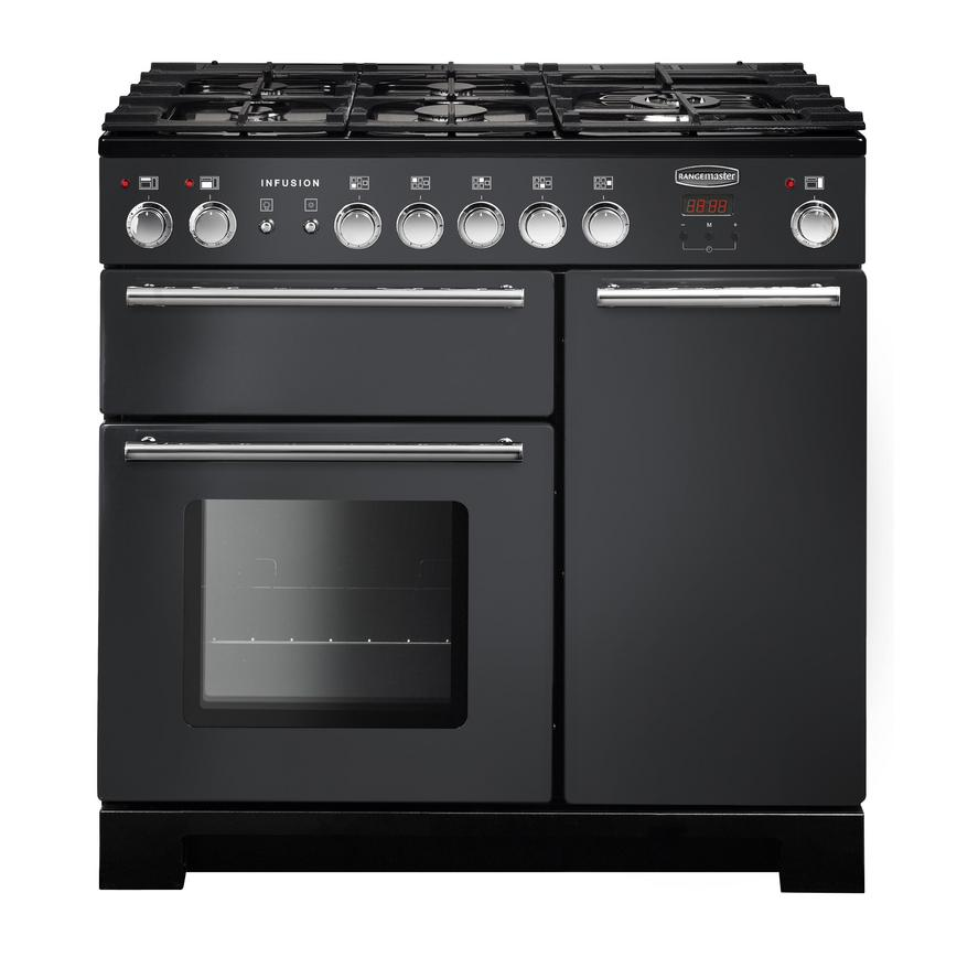 Rangemaster INF90DFFSL 90cm Dual Fuel Slate Range Cooker Cut Out