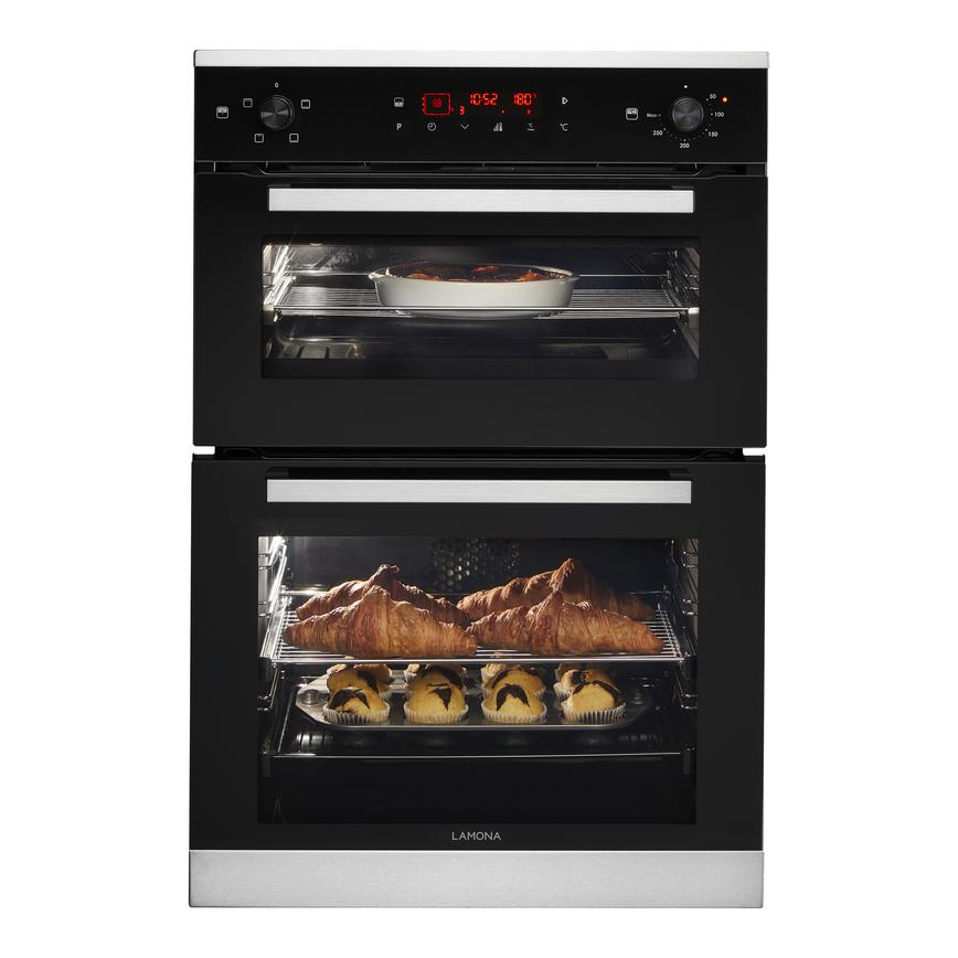 Lamona LAM4604 Built In Electric 60cm Black Double Oven
