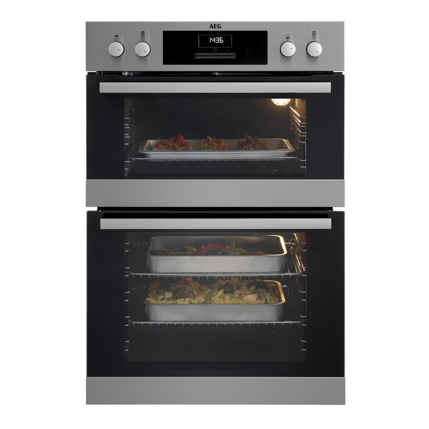 AEG DCB331010M Built In Electric 60cm Stainless Steel Double Oven