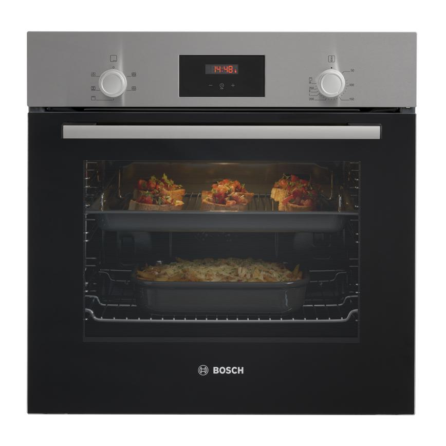 Bosch HHF113BR0B Built In Electric 60cm Stainless Steel Single Oven
