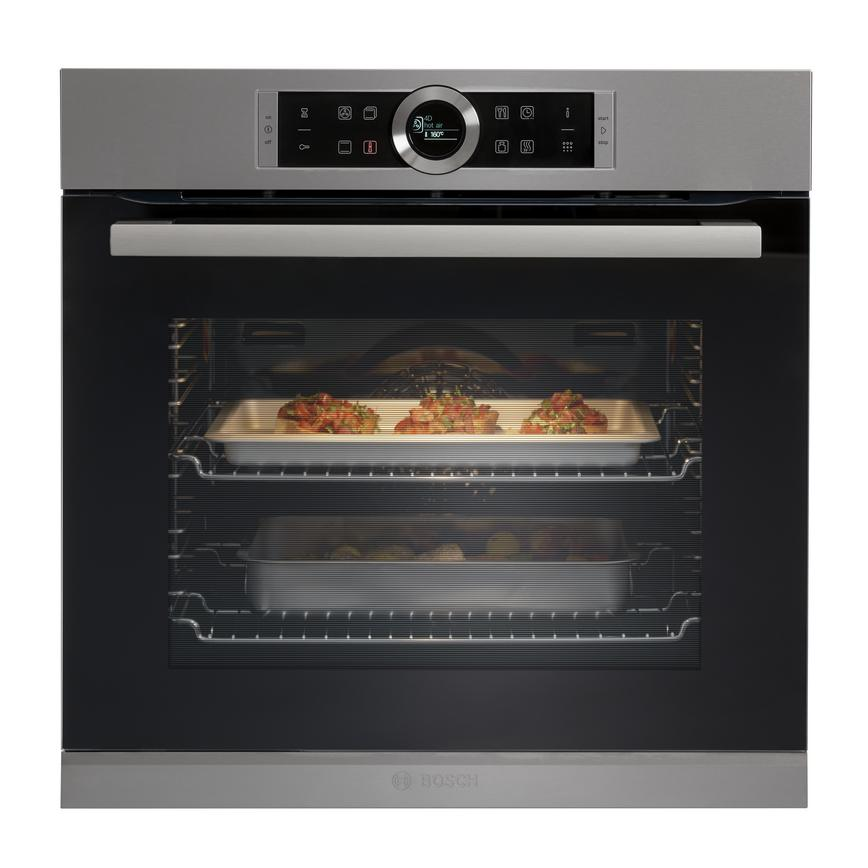 Bosch HBG674BS1B Serie 8 60cm Stainless Steel Built In Single Oven