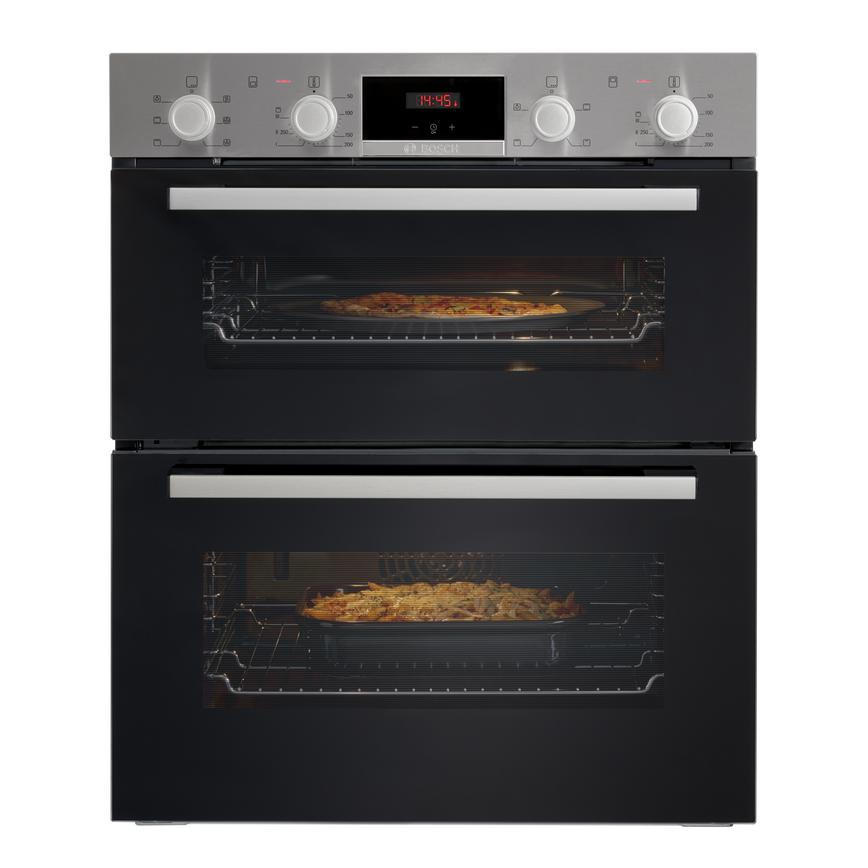 Bosch NBS113BR0B Built Under Electric 60cm Stainless Steel Double Oven