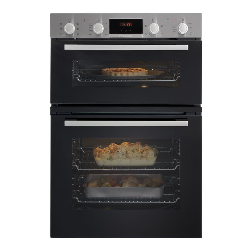 Bosch MBS133BR0B Built In Electric 60cm Stainless Steel Double Oven