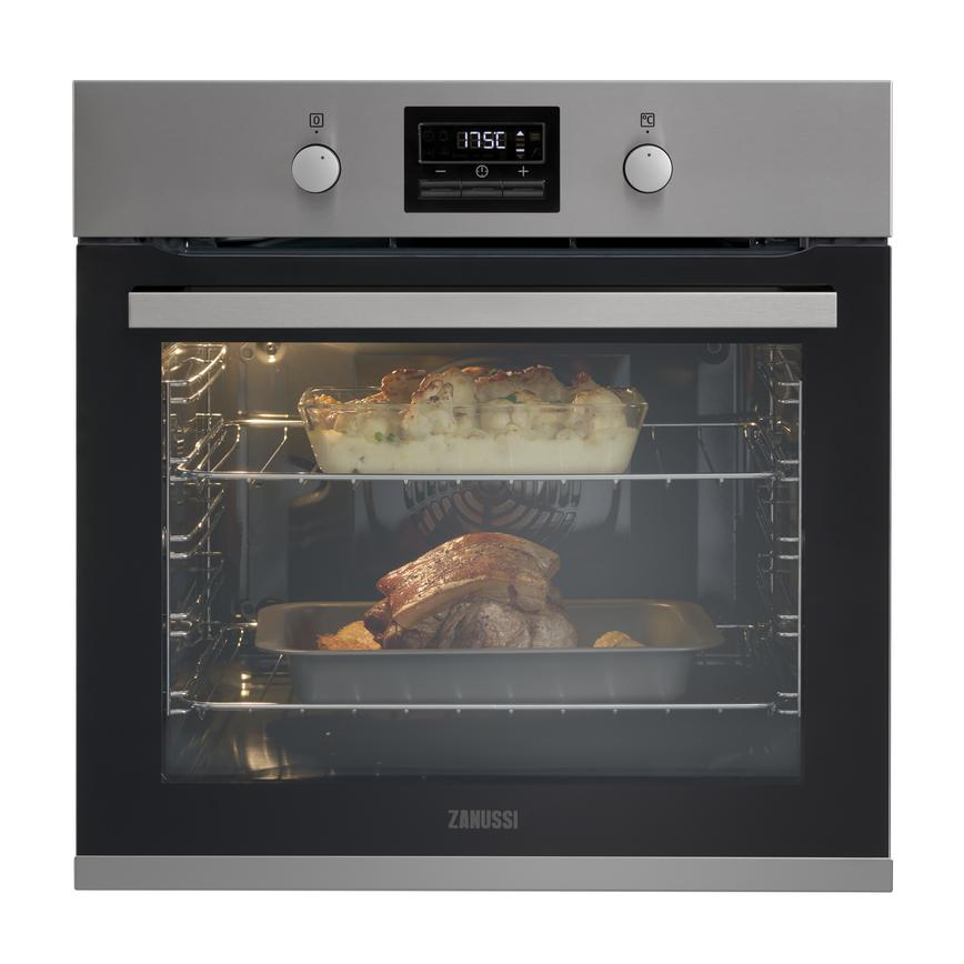 Zanussi ZOP37982XK Built In Electric 60cm Stainless Steel Single Oven