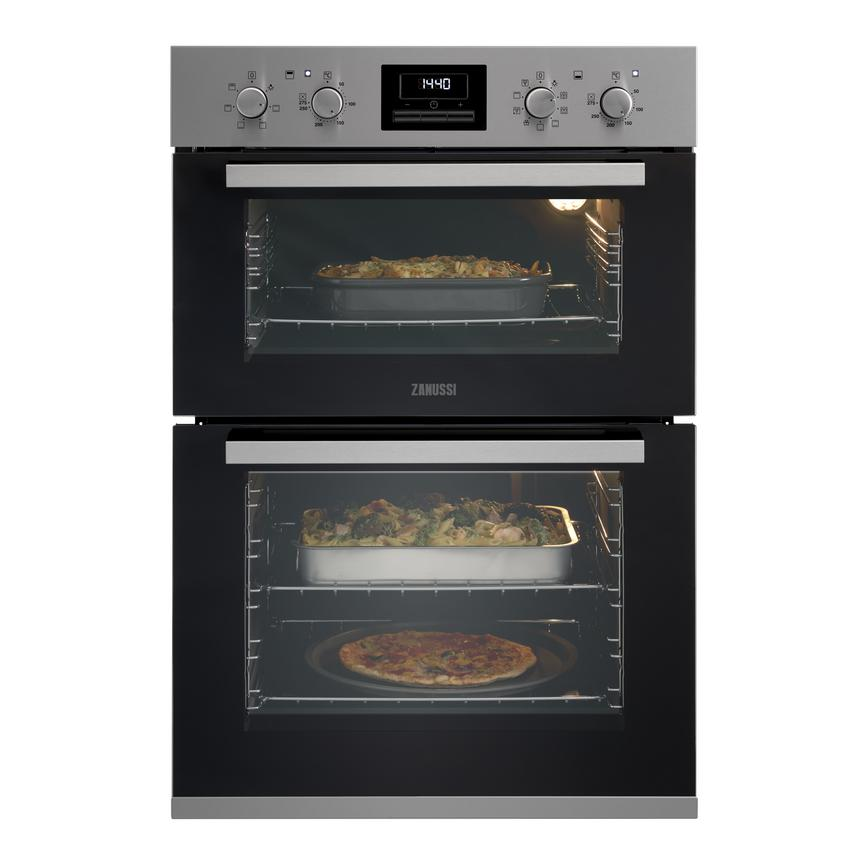 Zanussi ZOD35802XK Built In Electric 60cm Stainless Steel Double Oven