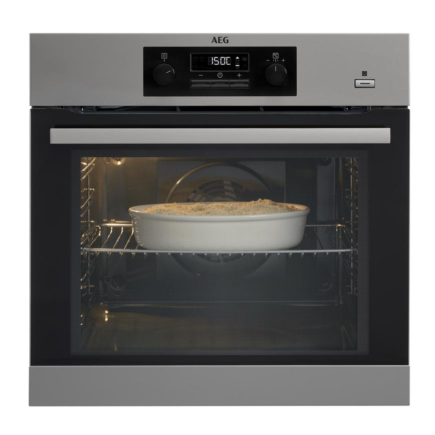 AEG BPK351021M Built In Electric 60cm Stainless Steel Single Oven