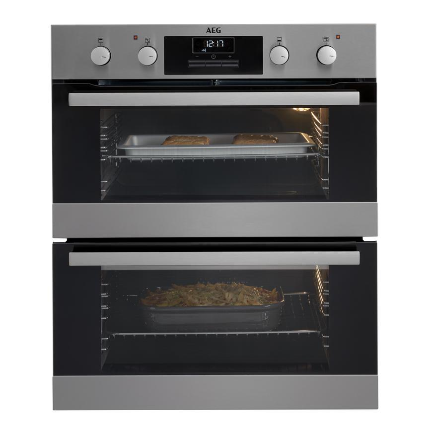 AEG DUB331110M Built Under Electric 60cm Stainless Steel Double Oven