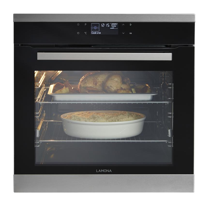 Lamona LAM3800 Built In Electric 60cm Stainless Steel Single Oven