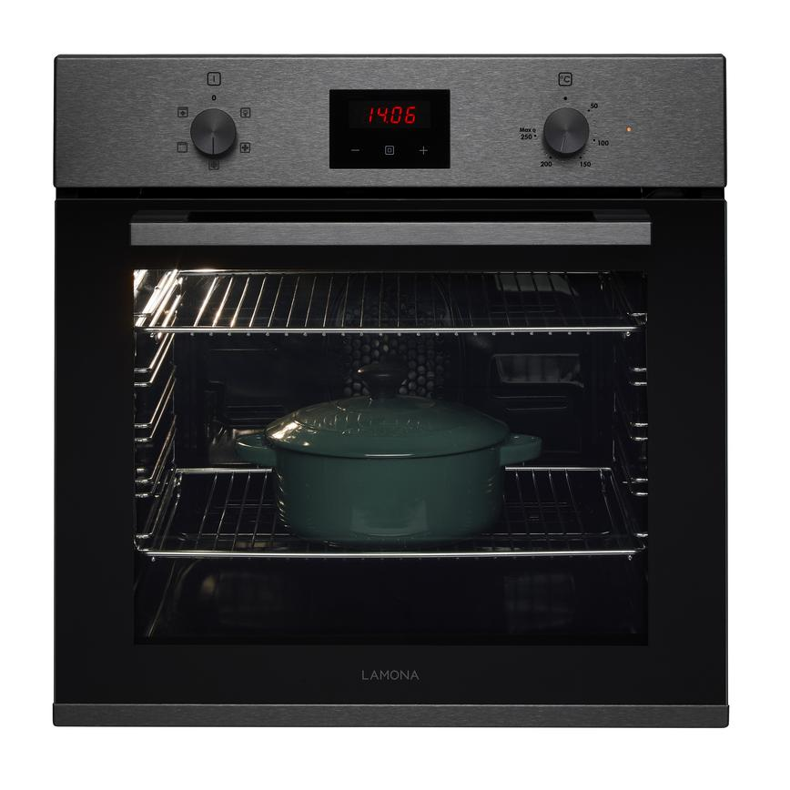 Lamona LAM3408 Built In Electric 60cm Stainless Steel Single Oven
