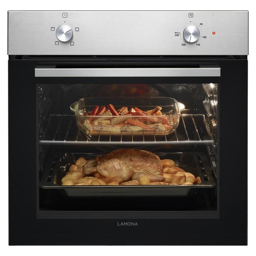 Lamona LAM3212 Built In Electric 60cm Stainless Steel Single Oven