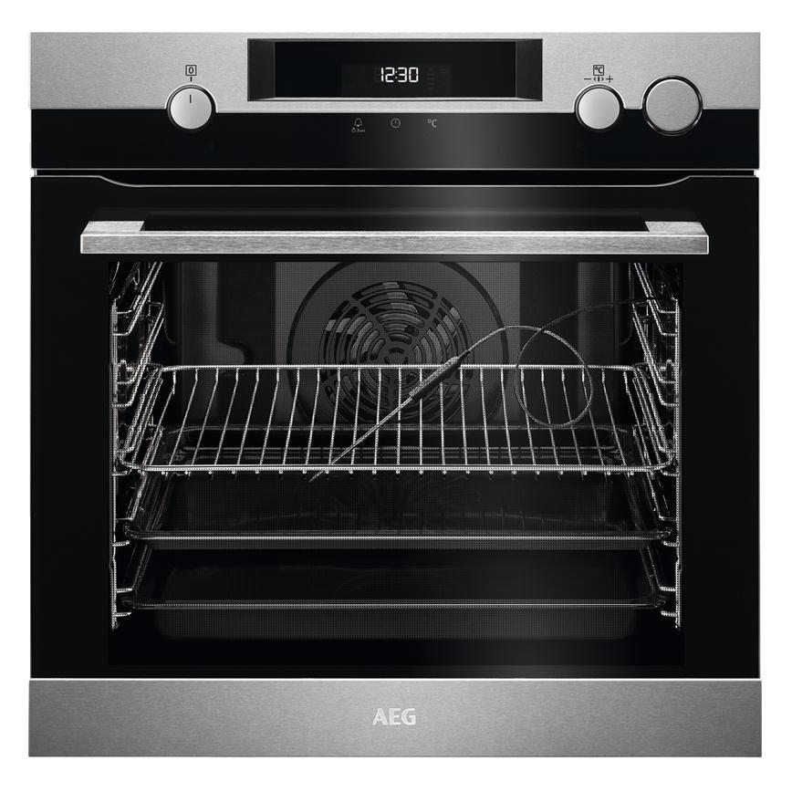 AEG Single Pyrolytic Steam Assist Oven BSK577221M