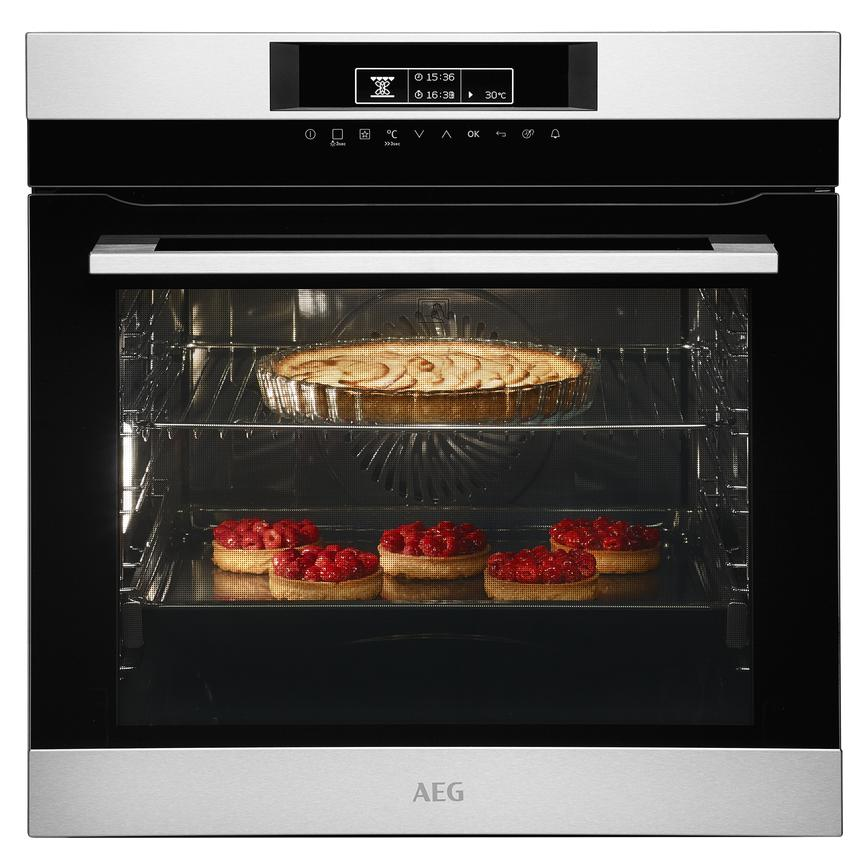 AEG BPK742320M Built In Electric 60cm Stainless Steel Single Oven