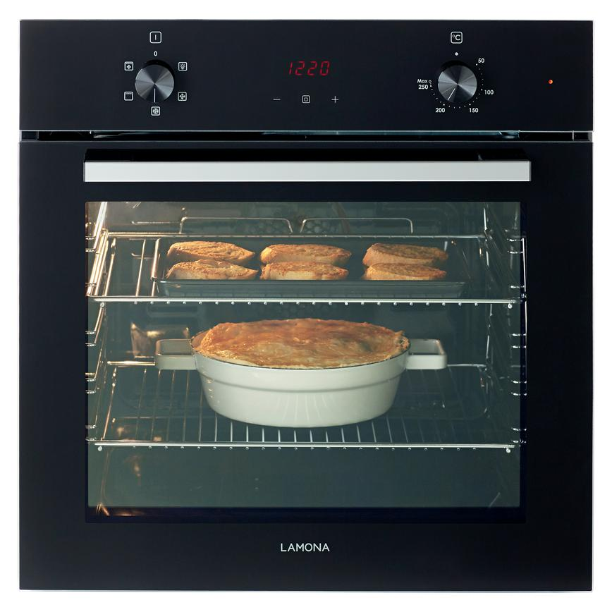 Lamona LAM3407 Built In Electric 60cm Black Single Oven