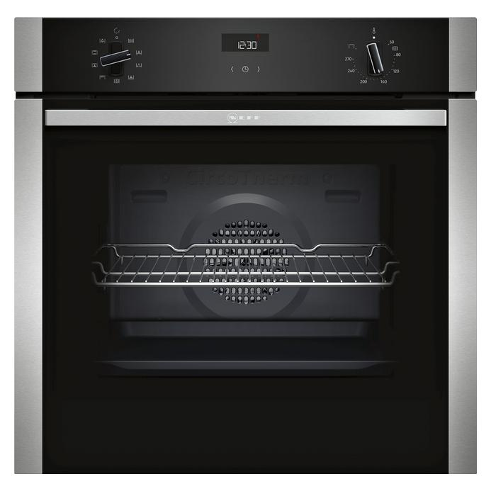 Neff B1ACE4HN0B Built In Electric 60cm Stainless Steel Single Oven