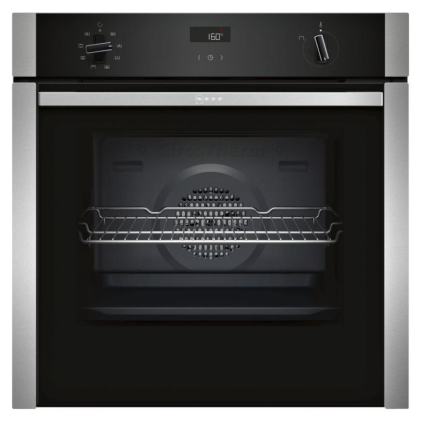 Neff B4ACF1AN0B Built In Electric 60cm Stainless Steel Single Oven