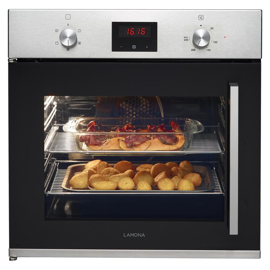 Lamona LAM3503 Built In Electric 60cm Stainless Steel Single Oven