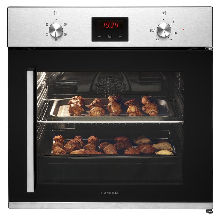 Lamona LAM3504 Built In Electric 60cm Stainless Steel Single Oven