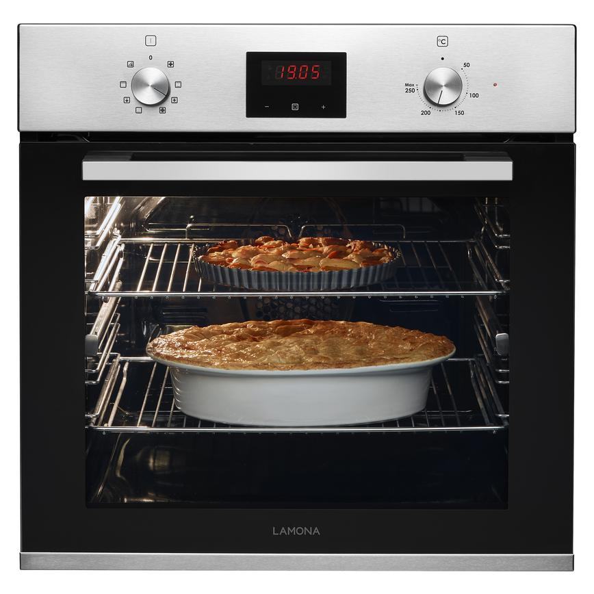 Lamona LAM3601 Built In Electric 60cm Stainless Steel Single Oven