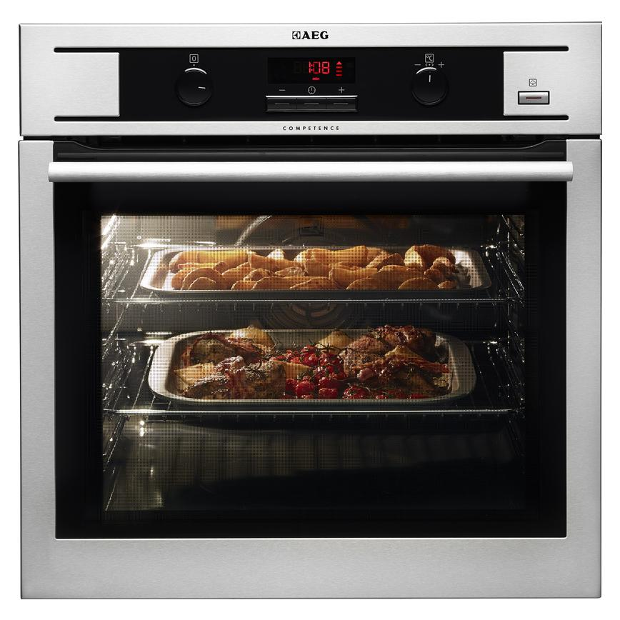 AEG BP300311KM Built In Electric 60cm Stainless Steel Single Oven