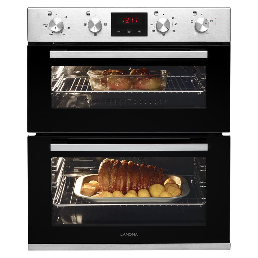 Lamona LAM4405 Built Under Electric 60cm Stainless Steel Double Oven