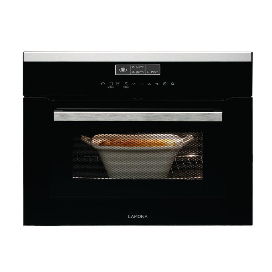 Lamona Black Integrated Combi Microwave with White LED