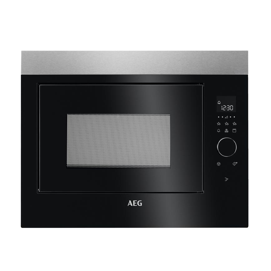 AEG Stainless Steel Integrated Microwave and Grill