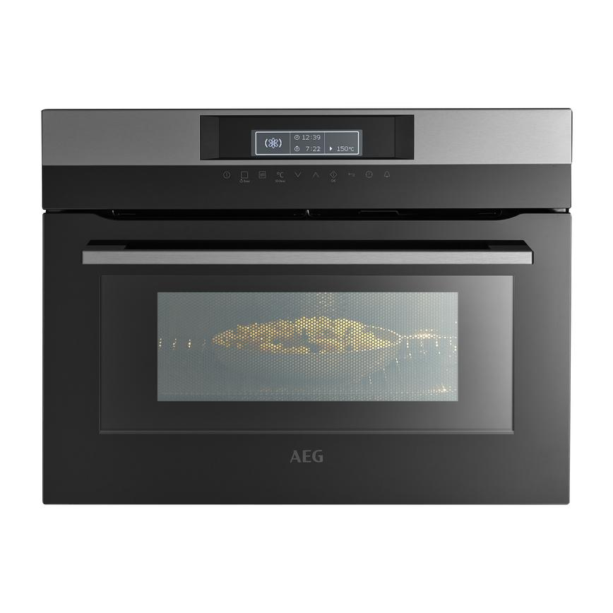AEG KMK761000M Built In 60cm Stainless Steel Combination Microwave Oven