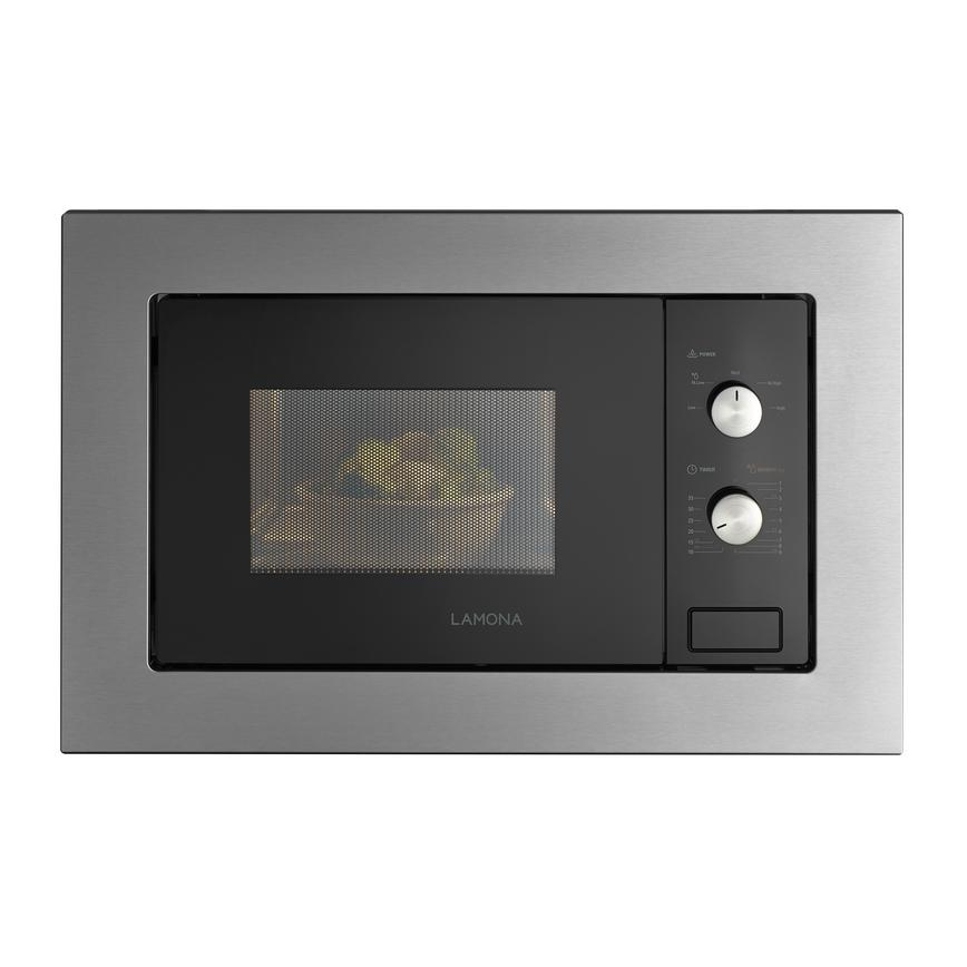 Lamona LAM7300 Built In 60cm Stainless Steel Microwave