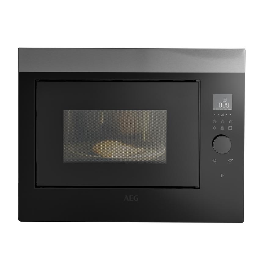AEG MBE2658DEM Built In 60cm Stainless Steel Microwave with Grill
