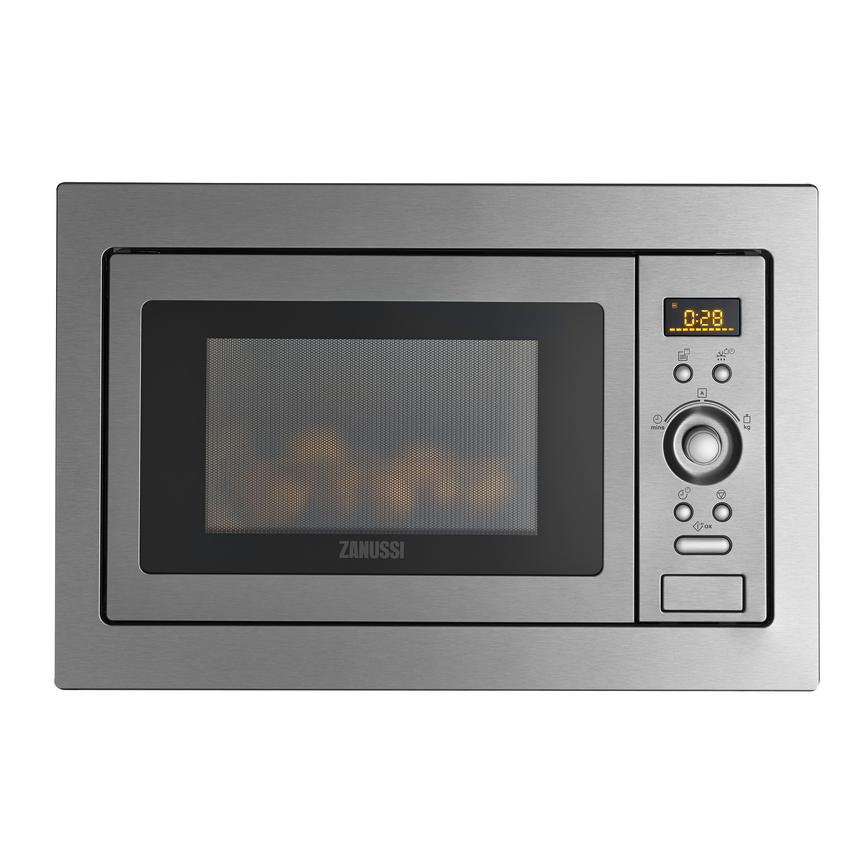 Zanussi ZSG25224XA Built In 60cm Stainless Steel Microwave with Grill