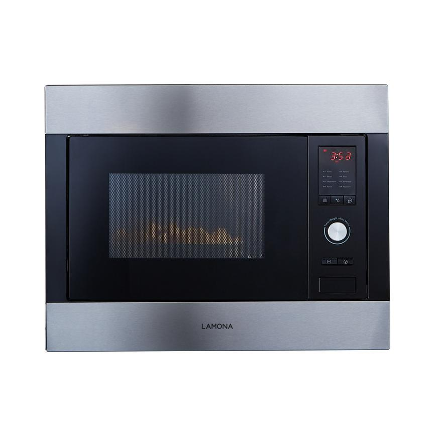 Lamona LAM7150 Built In 60cm Stainless Steel Microwave with Grill